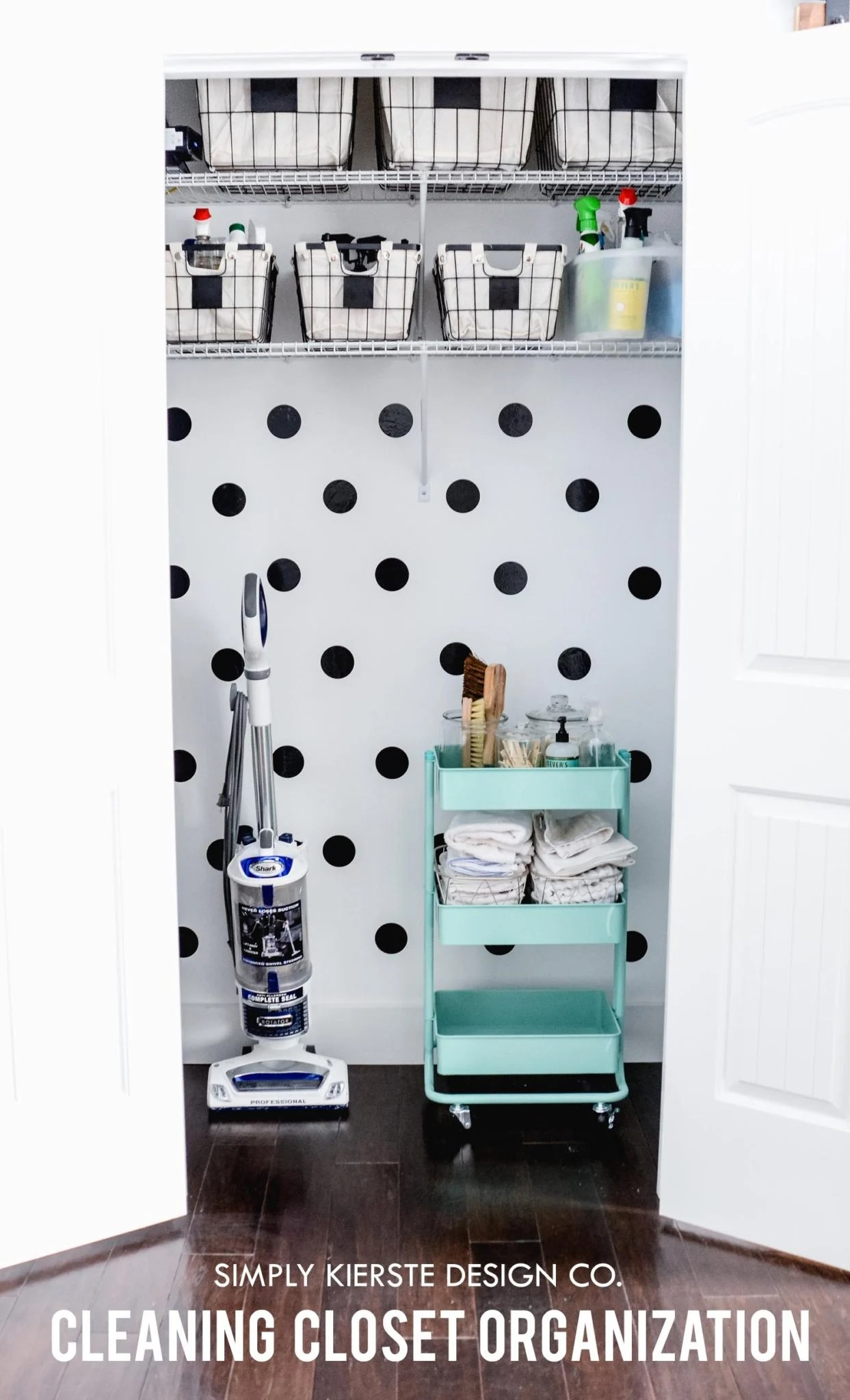Cleaning Closet Makeover | Organization Ideas | oldsaltfarm.com #cleaningcloset #cleaningtips #cleaningorganization #organizationideas