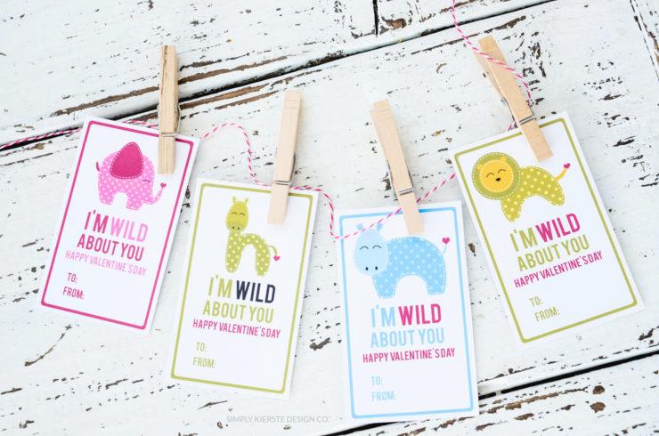 Wild About You Valentine | oldsaltfarm.com #valentinesday #preschoolvalentines #printablevalentines #easyvalentines