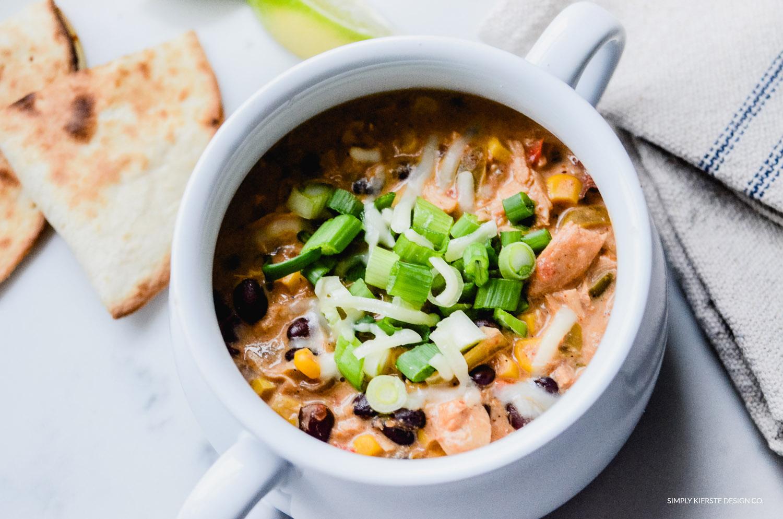 Crockpot Mexican Chicken Soup | oldsaltfarm.com #soup #crockpotsoup #crockpotrecipes #slowcookerrecipes