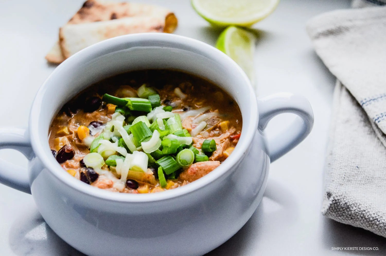 Crockpot Mexican Chicken Soup | oldsaltfarm.com