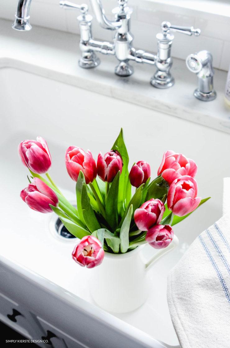 Fresh tulips farmhouse