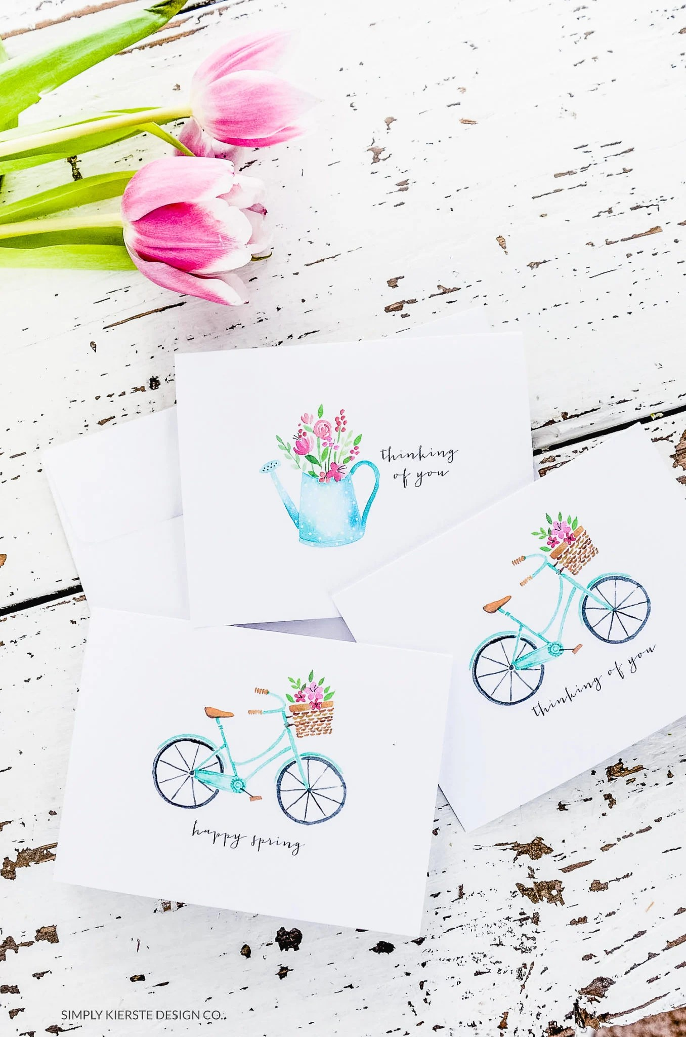 Spring Notecards | Vintage Notecards | Thinking of You | oldsaltfarm.com