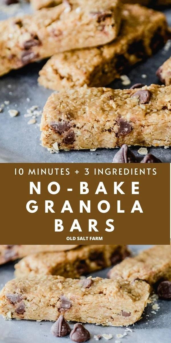 Easy No-Bake Homemade Granola Bars