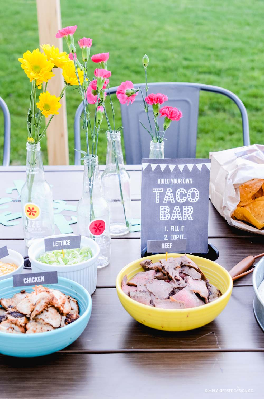 Festive & Easy Taco Bar | Food + Printables + Decor | Cinco De Mayo