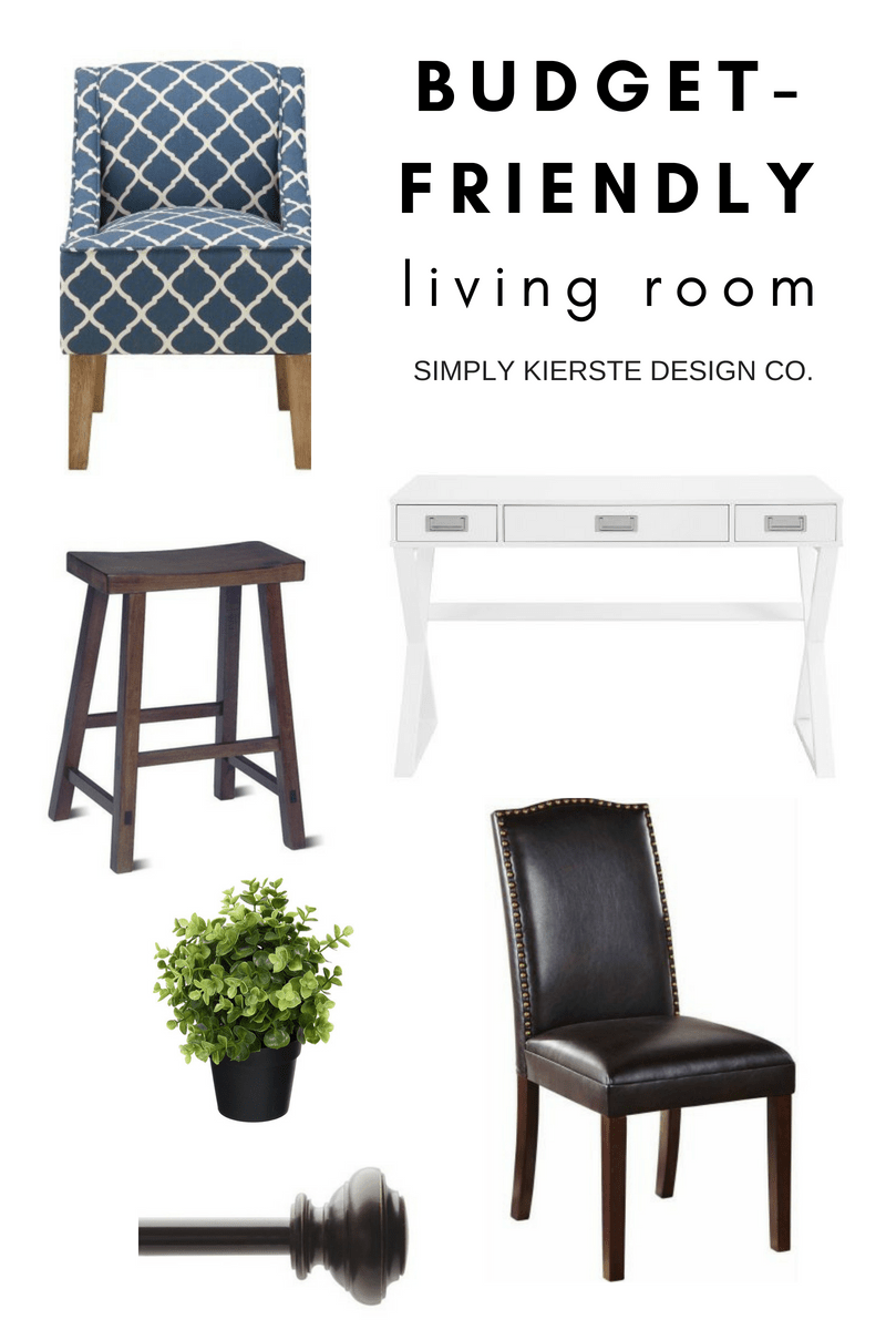 Budget-Friendly Living Room Makeover Style Board