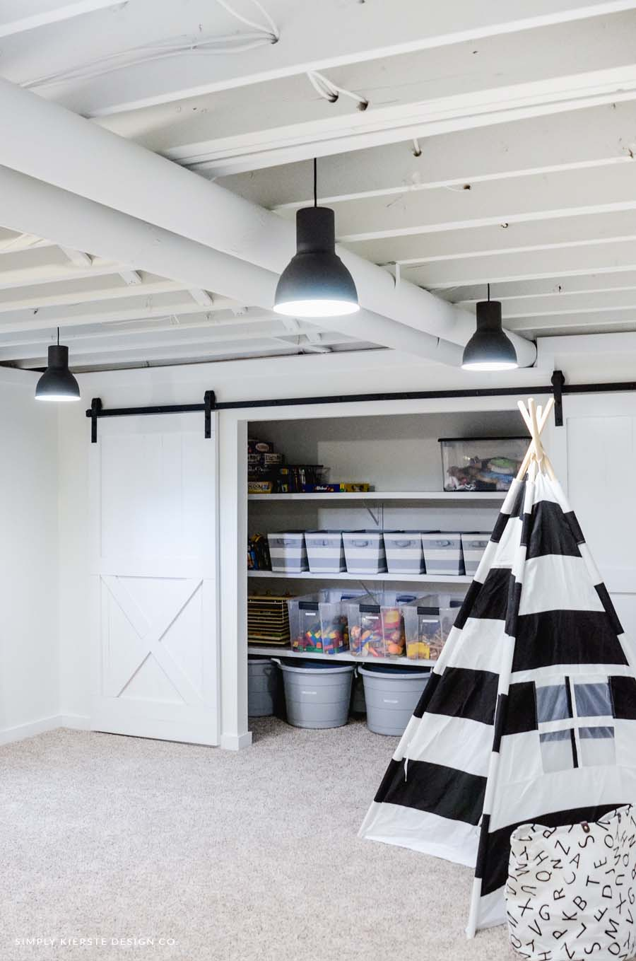 Our Painted Basement Ceiling White Why We Love It
