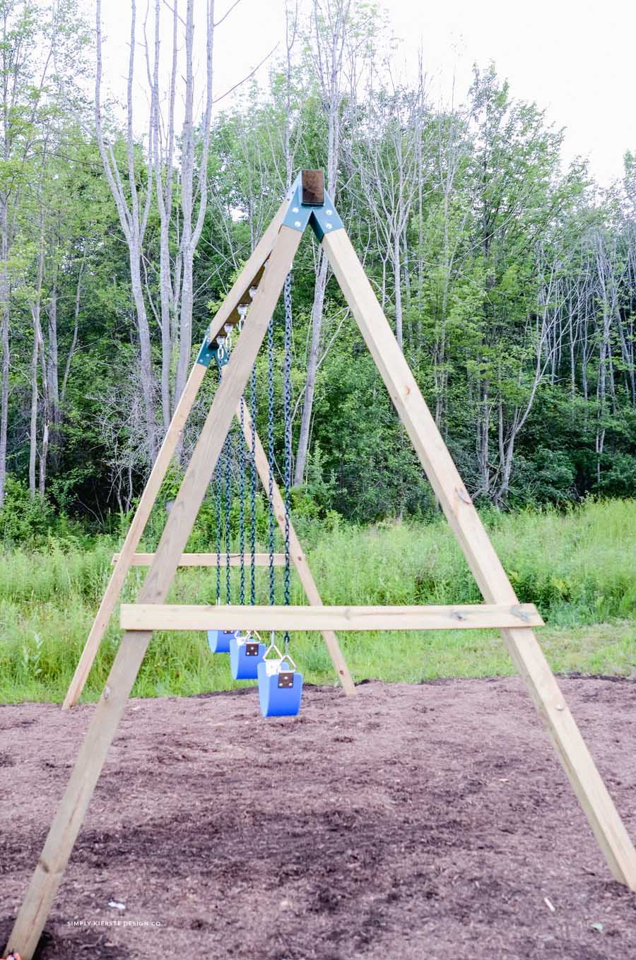 How to Build a Wooden Swing Set the EASY way!