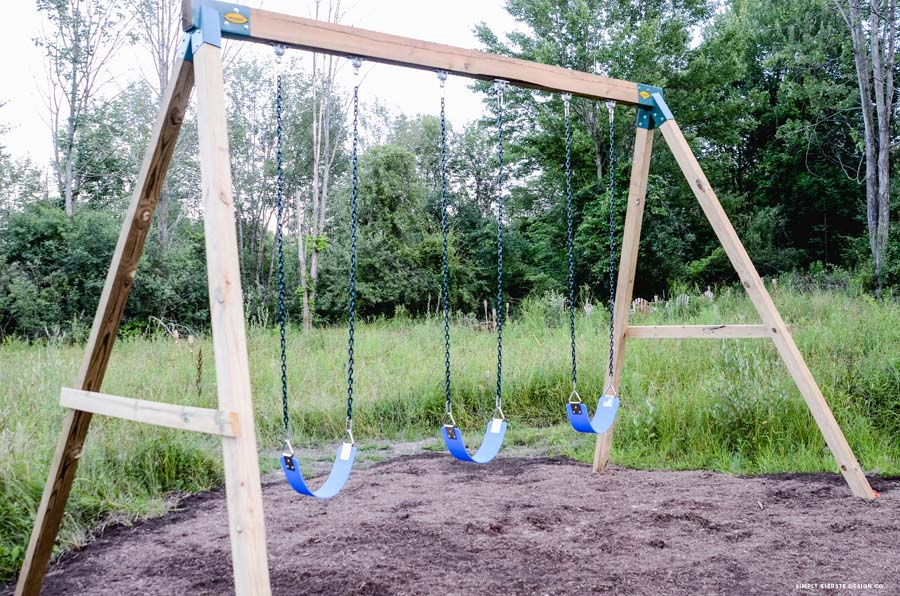How To Build A Wooden Swing Set The Easy Way
