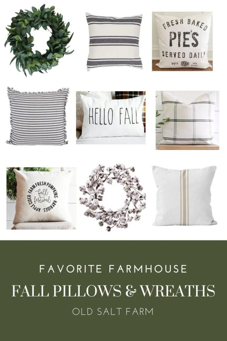 Farmhouse Fall Pillows & Wreaths