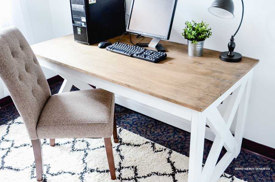 Farmhouse Style Office Makeover on a Budget