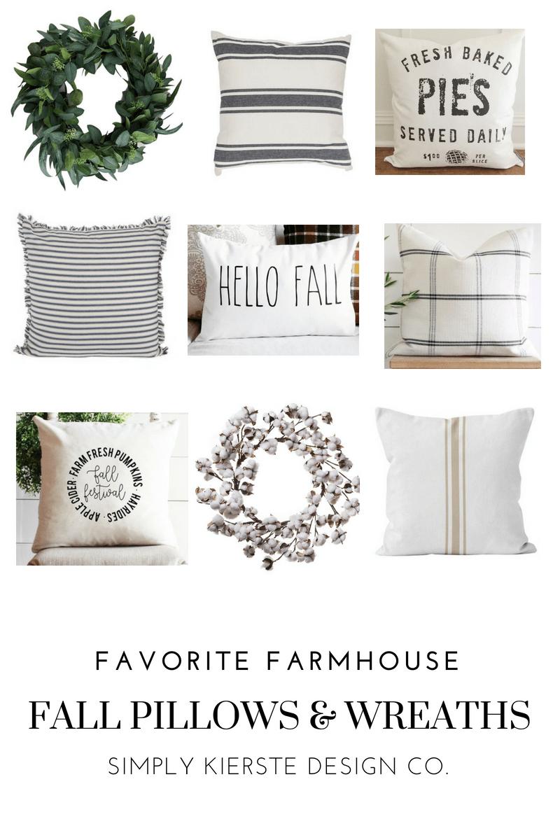 Favorite Farmhouse Pillows & Wreaths