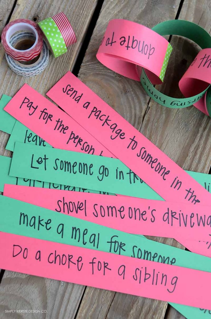 Christmas Kindness Countdown Chain | Service Ideas for Families