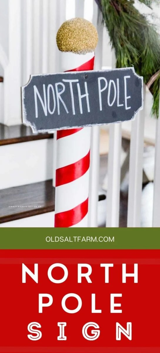 Easy North Pole Sign