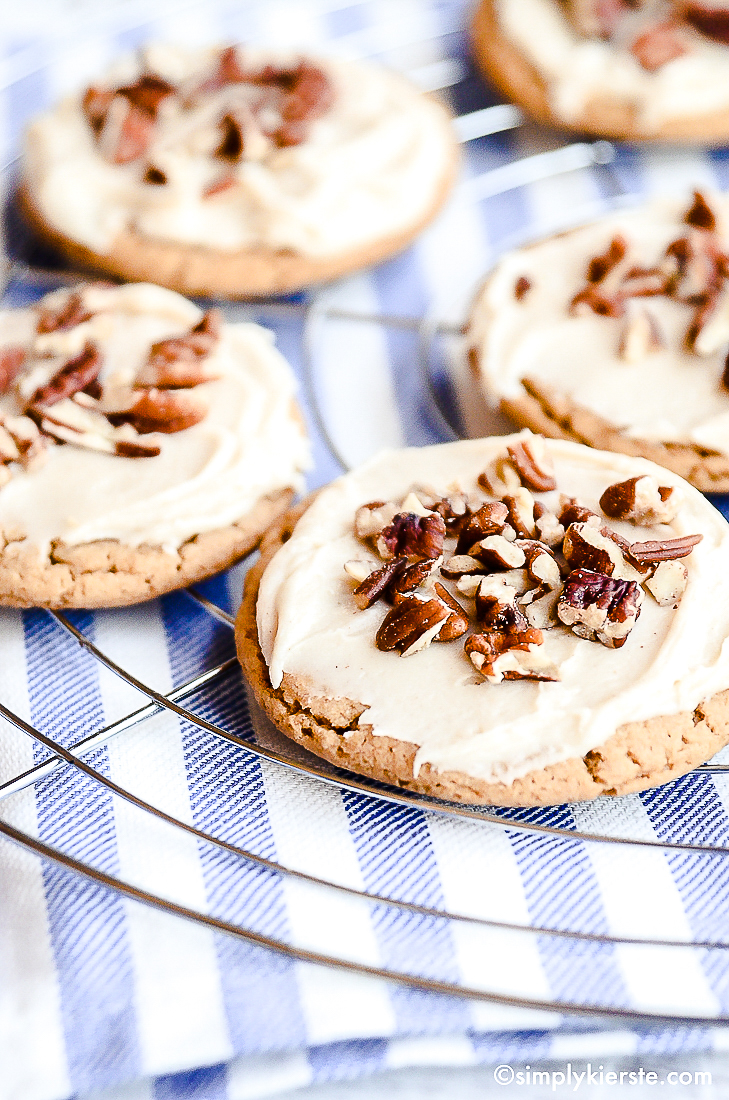 Praline Cookies Browned Butter Frosting