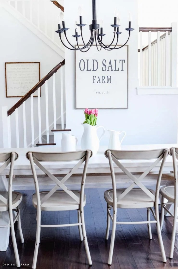 Farmhouse Numbered Stairs | Farmhouse Dining Room
