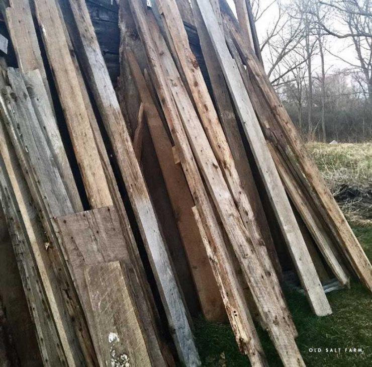 DIY Barn Wood Kitchen Island barn wood