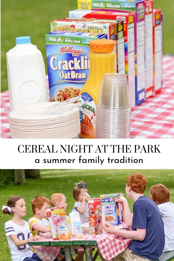 Family Summer Tradition | Cereal Night at the Park
