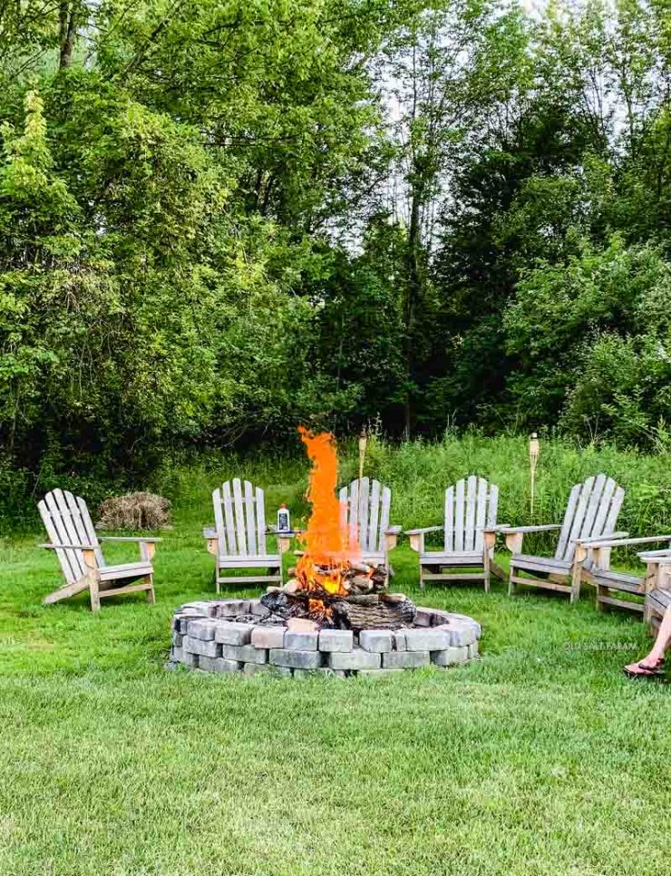 Campfire Adirondack Chairs Summer Party