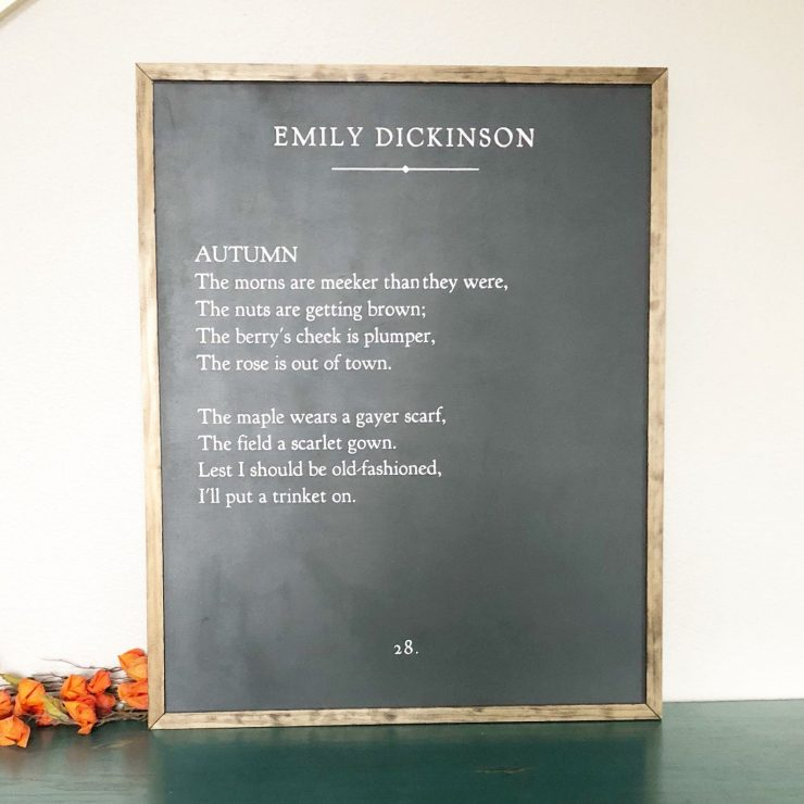 Farmhouse Fall Sign Autumn Emily Dickinson