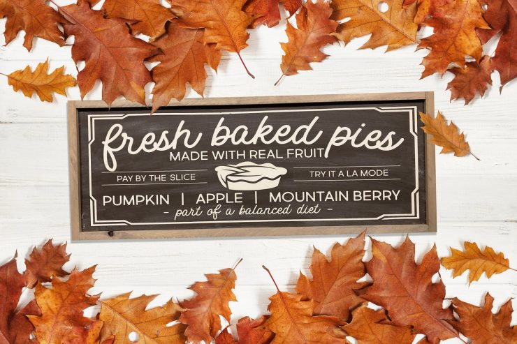 Fresh Baked Pies Farmhouse Fall Sign
