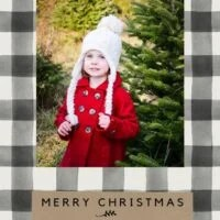 Black Buffalo Check Christmas Card Templates