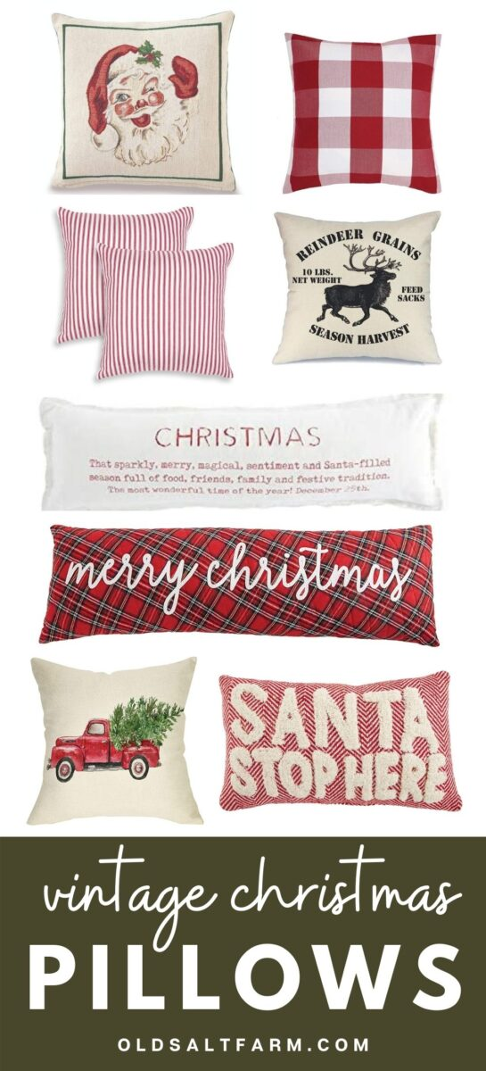 Vintage Farmhouse Christmas Pillows