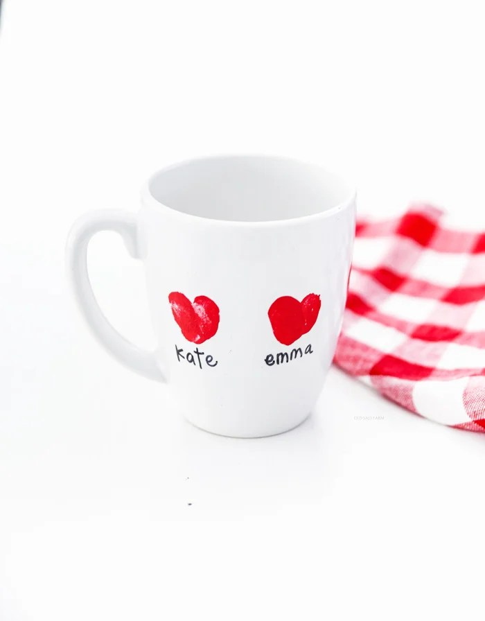 Heart Thumbprint Mug | Valentine's Day Gift Idea
