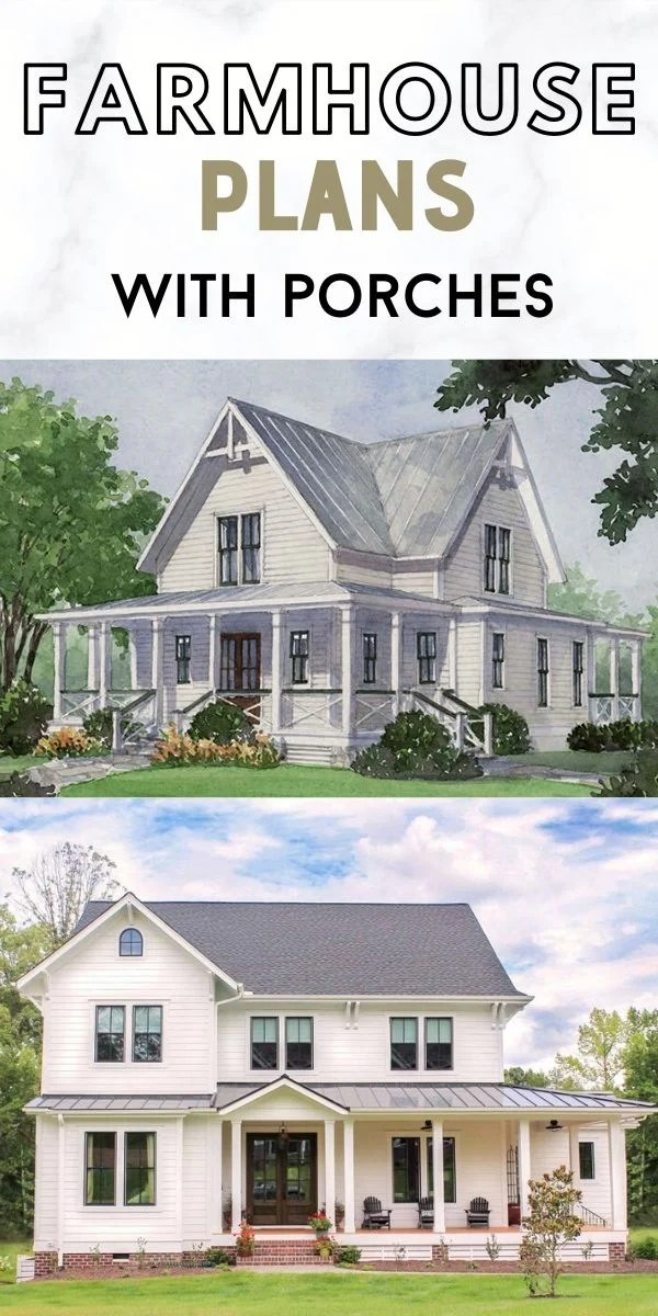 Farmhouse Plans with Porches
