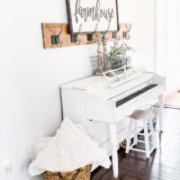 How to Paint a Piano and Add Shiplap | Piano Makeover