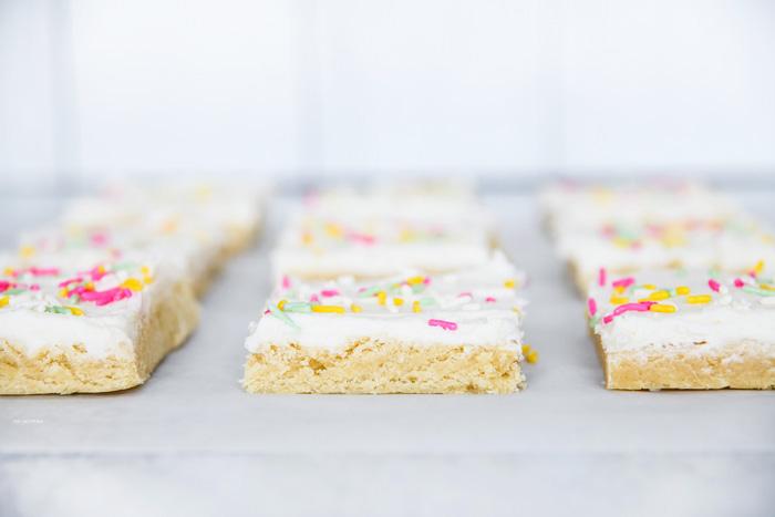 Soft Sugar Cookie Bars Cream Cheese Icing
