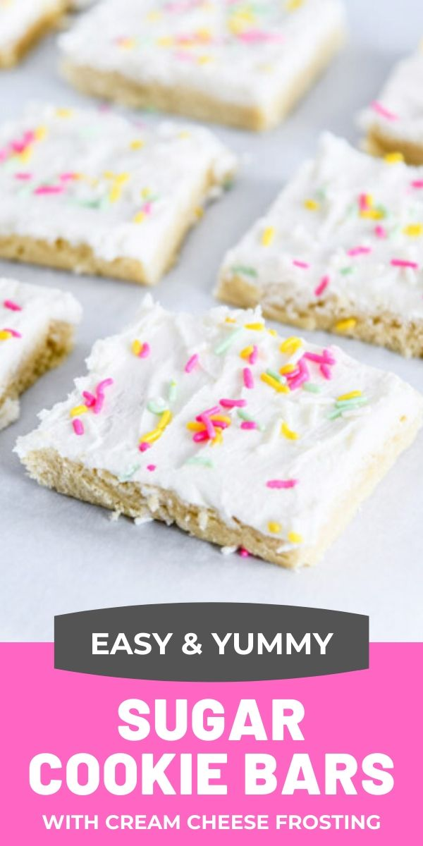 Sugar Cookie Bars with Cream Cheese Frosting