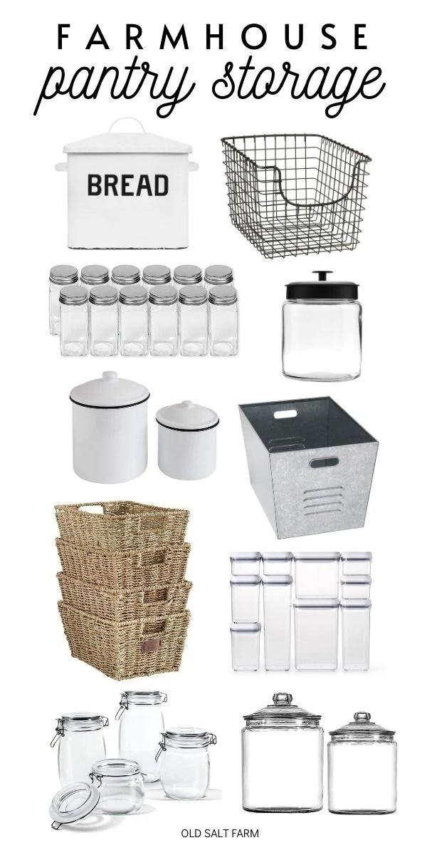 Farmhouse Pantry Storage Items