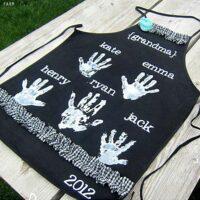 Handprint Apron Gift Idea