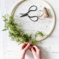 Greenery Spring Hoop Wreath