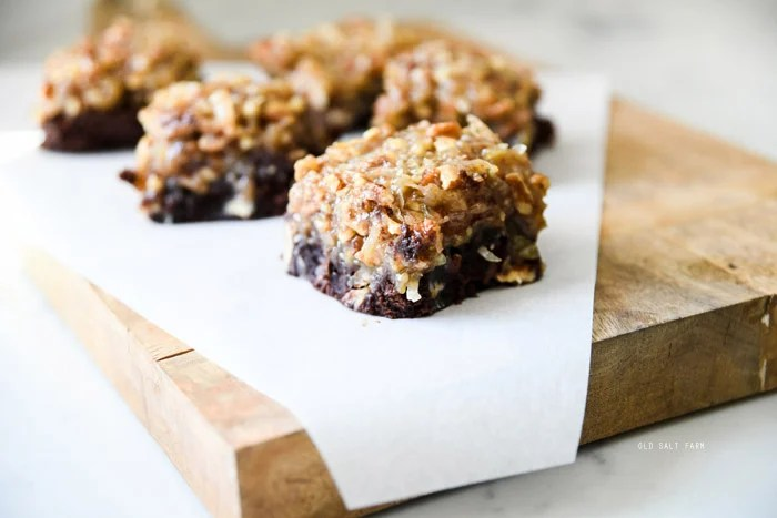 German Chocolate Brownies Easy