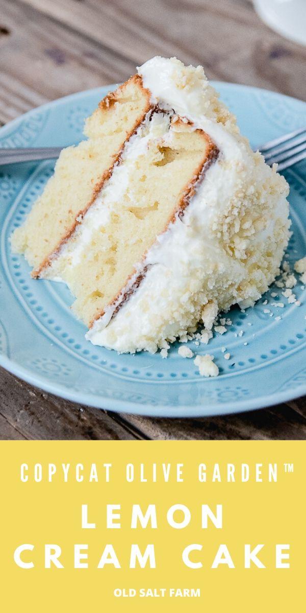 Olive Garden Copycat Lemon Cream Cake