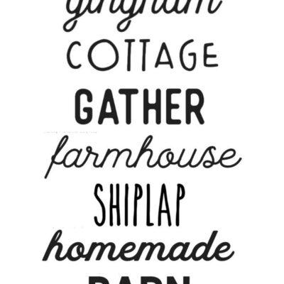 Best Farmhouse Fonts