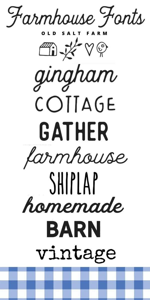 Best Farmhouse Fonts Where To Find Them Old Salt Farm