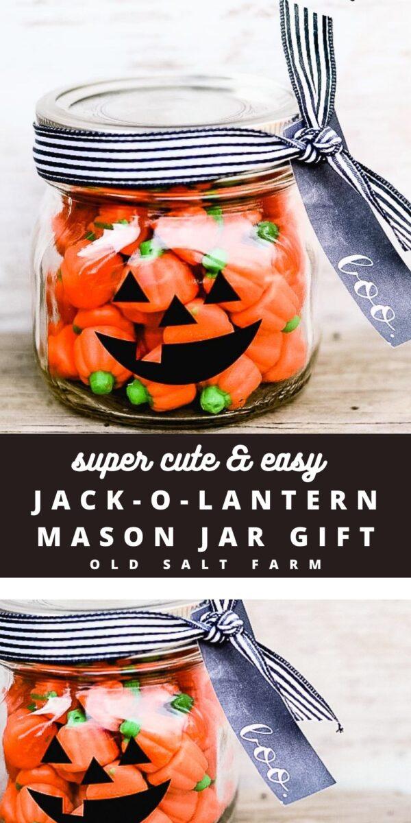 Jack-o-Lantern Halloween Mason Jar Gift