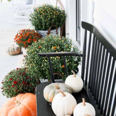 Simple Farmhouse Fall Porch
