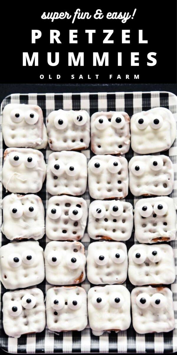Waffle Pretzel Mummies