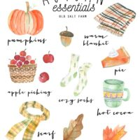 Watercolor Autumn Printable