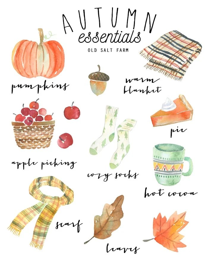 Watercolor Autumn Printable
