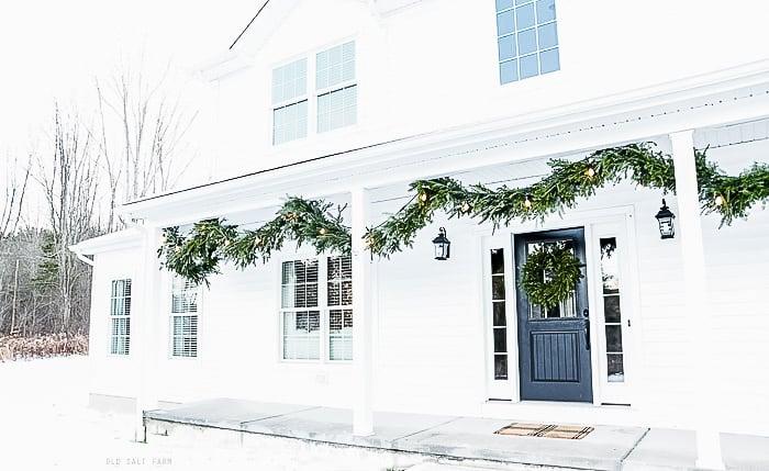 Christmas Farmhouse Porch
