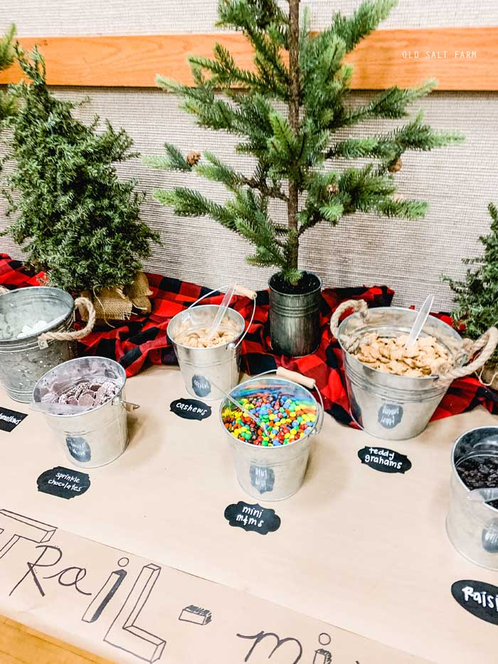 Rustic Themed Trail Mix Bar
