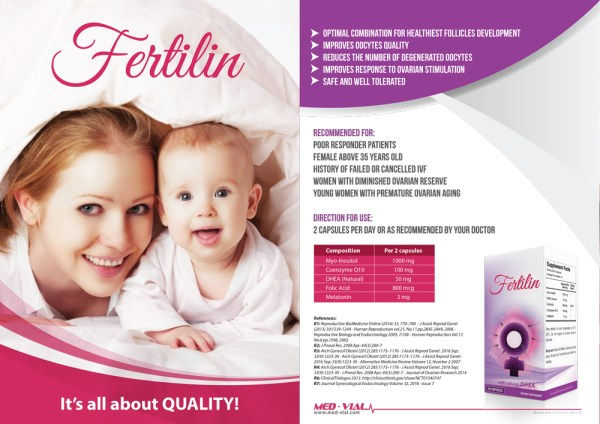 Fertilin with Natural DHEA – 30 Capsules –