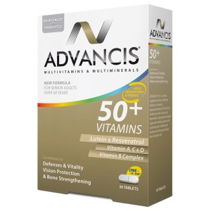 Advancis 50+ Vitamins – 30 Tablets –