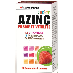 Arkopharma Azinc Junior Form & Vitality Strawberry Flavor -30 Tablets-