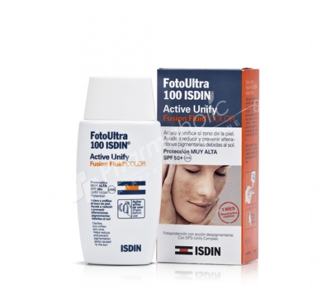 Foto Ultra 100 ISDIN Active Unify COLOR SPF50+