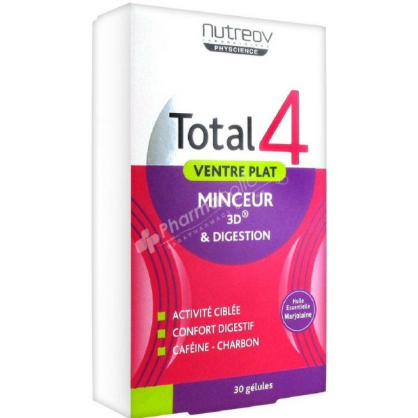 Nutreov Total 4 Flat Stomach Slimness 3D & Digestion – 30 Capsules –